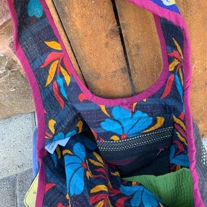 fire monkey Bags - ✨VINTAGE RECYCLED SARI KANTHA HOBO TOTE BAG✨